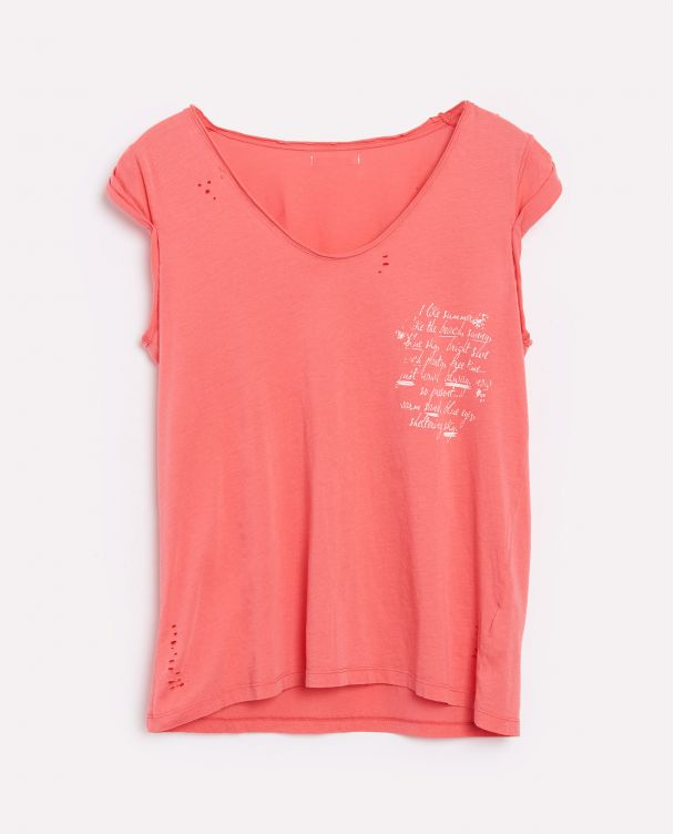 Camiseta con Mangas Remangadas
