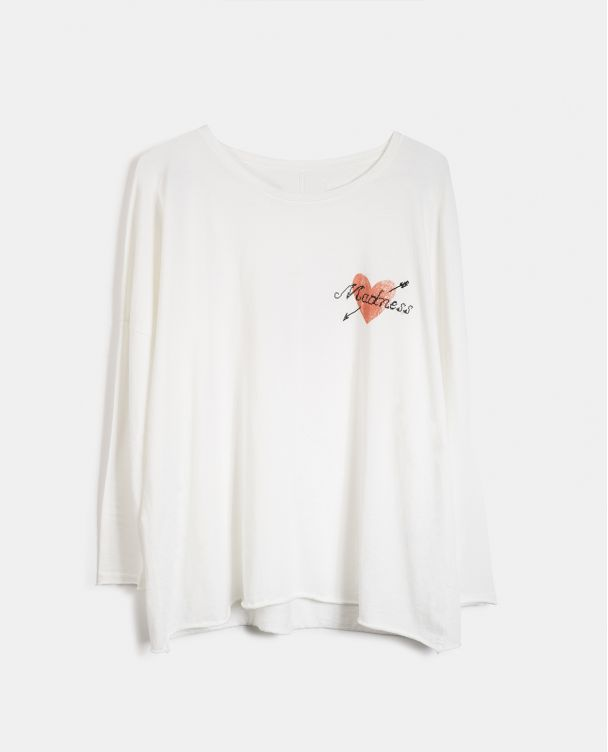 Camiseta Oversize de Manga Larga