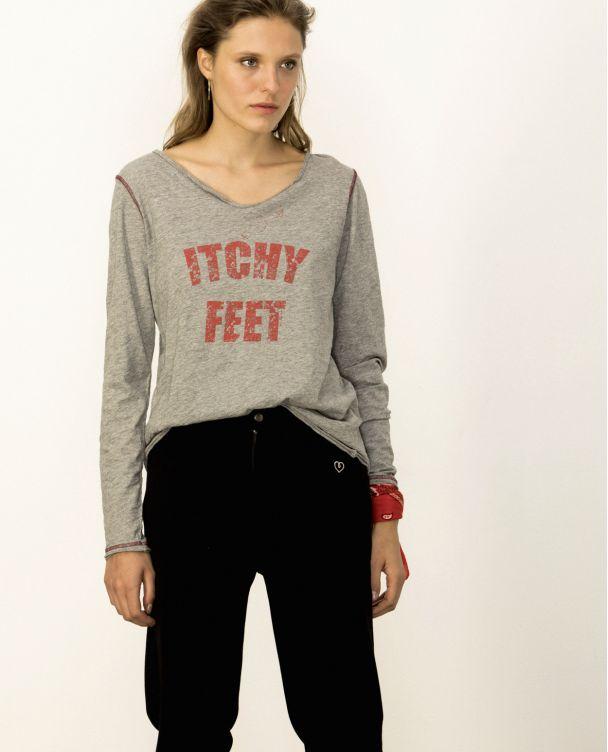 V Neck Long Sleeve T-shirt