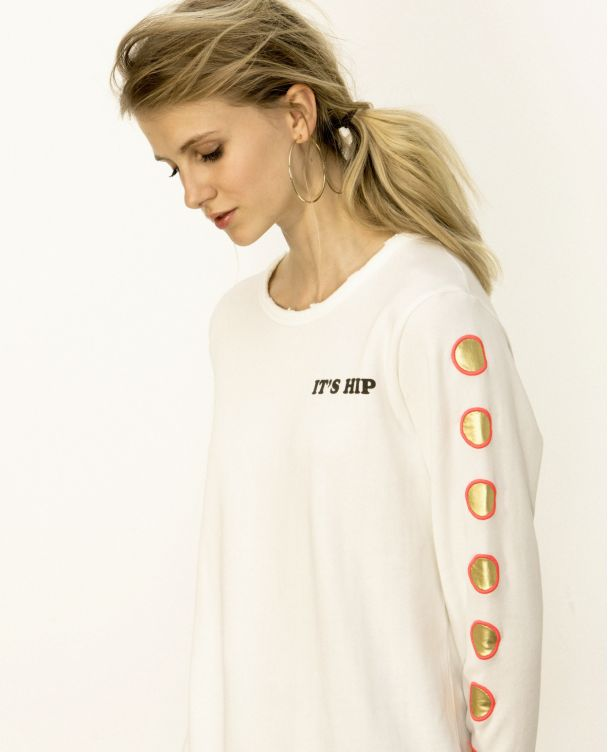 Camiseta de Manga Larga con Cuello V